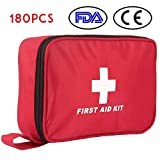 Botiquín de Primeros Auxilios de 180 Piezas WEINAS® Kit de Primeros Auxilios Súper...