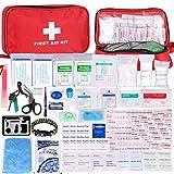 Botiquín de Primeros Auxilios de 200 Piezas,con Hielo, Manta de Emergencia,Máscara...